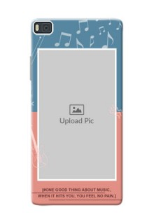 Huawei Ascend P8 2 colour backdrop with music theme Design Design