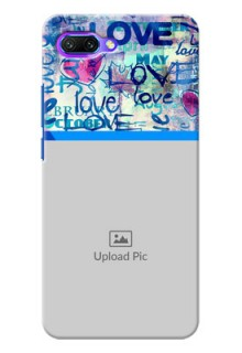 Huawei Honor 10 Colourful Love Patterns Mobile Case Design