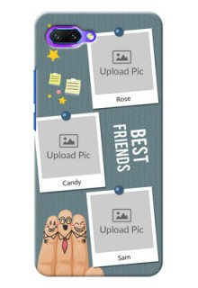 Huawei Honor 10 3 image holder with sticky frames and friendship day wishes Design