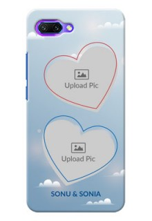Huawei Honor 10 couple heart frames with sky backdrop Design