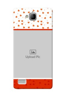 Huawei Honor 3C Orange Love Symbol Mobile Cover Design