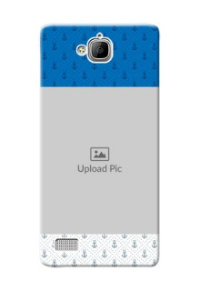 Huawei Honor 3C Blue Anchors Mobile Case Design