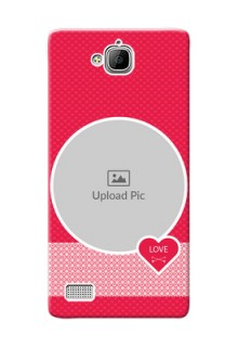 Huawei Honor 3C Pink Design Pattern Mobile Case Design