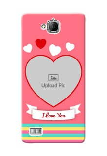 Huawei Honor 3C I Love You Mobile Cover Design