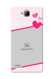 Huawei Honor 3C Pink Design With Pattern Mobile Cover Design