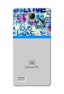 Huawei Honor 3C Colourful Love Patterns Mobile Case Design