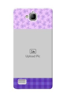 Huawei Honor 3C Floral Design Purple Pattern Mobile Cover Design