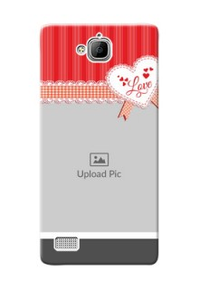 Huawei Honor 3C Red Pattern Mobile Cover Design