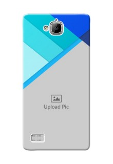 Huawei Honor 3C Blue Abstract Mobile Cover Design