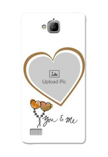 Huawei Honor 3C You And Me Mobile Back Case Design