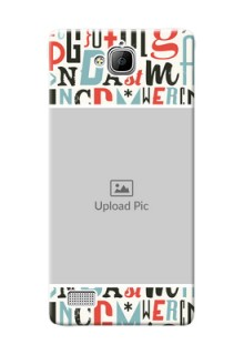 Huawei Honor 3C Colourful Alphabets Mobile Back Case Design