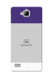 Huawei Honor 3C Violet Pattern Mobile Cover Design