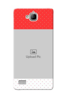 Huawei Honor 3C Red Pattern Mobile Case Design