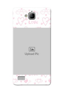 Huawei Honor 3C Flying Hearts Mobile Back Cover Design