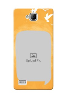 Huawei Honor 3C watercolour design with bird icons and sample text Design Design