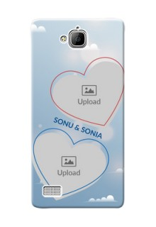 Huawei Honor 3C couple heart frames with sky backdrop Design