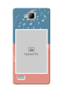 Huawei Honor 3C 2 colour backdrop with music theme Design Design