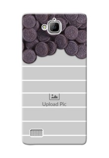 Huawei Honor 3C oreo biscuit pattern with white stripes Design Design