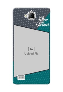 Huawei Honor 3C 2 colour background with different patterns and dreams quote Design Design