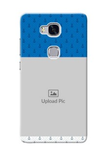 Huawei Honor 5X Blue Anchors Mobile Case Design
