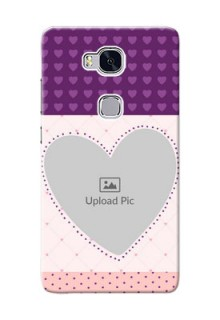 Huawei Honor 5X Violet Dots Love Shape Mobile Cover Design
