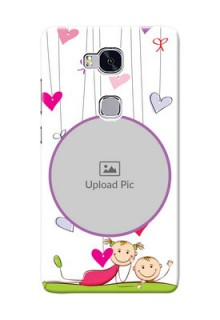 Huawei Honor 5X Cute Babies Mobile Cover  Design