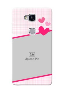 Huawei Honor 5X Pink Design With Pattern Mobile Cover Design