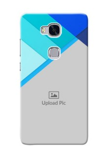Huawei Honor 5X Blue Abstract Mobile Cover Design