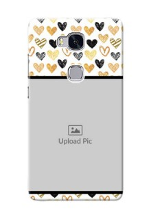 Huawei Honor 5X Colourful Love Symbols Mobile Cover Design
