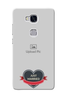 Huawei Honor 5X Just Married Mobile Cover Design