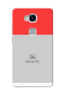 Huawei Honor 5X Red Pattern Mobile Case Design