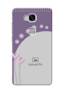 Huawei Honor 5X lavender background with flower sprinkles Design Design