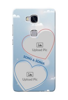 Huawei Honor 5X couple heart frames with sky backdrop Design