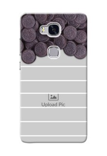 Huawei Honor 5X oreo biscuit pattern with white stripes Design Design