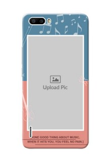 Huawei Honor 6 Plus 2 colour backdrop with music theme Design Design