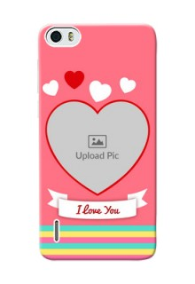 Huawei Honor 6 I Love You Mobile Cover Design