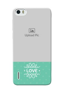 Huawei Honor 6 Lovers Picture Upload Mobile Cover Design