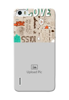 Huawei Honor 6 love doodle  pattern design Design Design