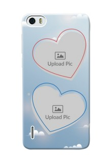 Huawei Honor 6 couple heart frames with sky backdrop Design