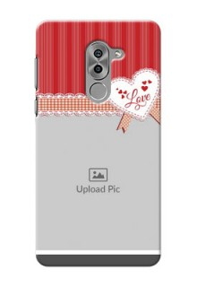 Huawei Honor 6X Red Pattern Mobile Cover Design