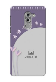 Huawei Honor 6X lavender background with flower sprinkles Design Design