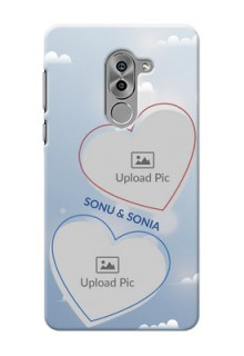 Huawei Honor 6X couple heart frames with sky backdrop Design