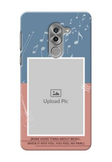 Huawei Honor 6X 2 colour backdrop with music theme Design Design