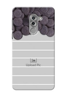 Huawei Honor 6X oreo biscuit pattern with white stripes Design Design