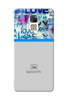 Huawei Honor 7 Colourful Love Patterns Mobile Case Design