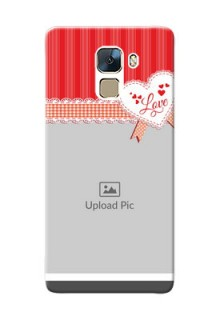 Huawei Honor 7 Red Pattern Mobile Cover Design