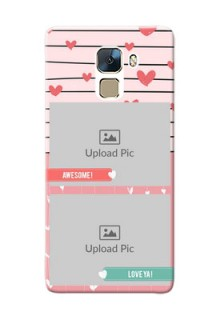 Huawei Honor 7 2 image holder with hearts Design