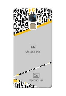 Huawei Honor 7 2 image holder with letters pattern  Design