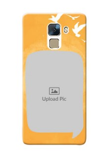 Huawei Honor 7 watercolour design with bird icons and sample text Design Design