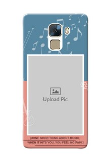 Huawei Honor 7 2 colour backdrop with music theme Design